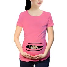 Women Maternity clothes pregnant Tshirt Short Sleeve Cute Print T-shirt Pregnant Cartoon Graphic nursing Top ropa embarazada NEW(China)