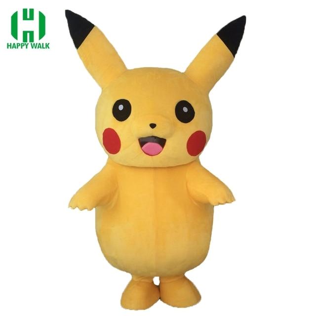 2019 Newest Pikachu Mascot Costume Cartoon Pikachu Halloween Carnival Costume Pikachu Christmas Costumes For Adult