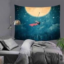 Горячая распродажа мода красивая луна холм гобелен гобелен украшения дома стены гобелен тапис