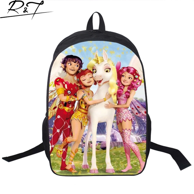 3bb261314328 Trendy 3D Cartoon Princess Printing Child s Backpack for Teenager Girls  Cute Mia and Me Kids School