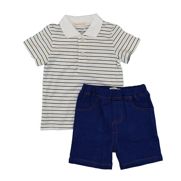 2016 лето детские дети дети unisex мальчики девушка короткие Т рубашка брюки набор спортивный мягкий одежда набор мода школа одежда письмо