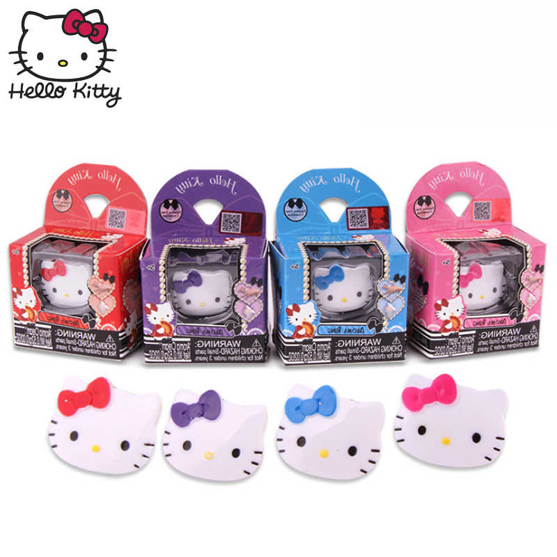 Hello Kitty 2019 New Makeup Toys Girls Pretend Play Charming Aroma Ring Safe Non Toxic Makeup Kit Toy Sets Kids Best Gifts