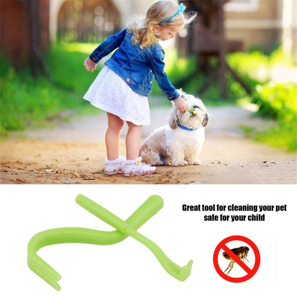 2Pcs Plastic Pet Dog Flea Remover Hook Tool Human Dog Pet Horse Kitten Pet Comb Tools Accessory for Dog Pet Cat Horse ...