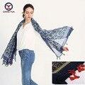 2016 hot sale da moda mulher 110*190 cm Lenço lenços de algodão e linho grande retangle curto borla flores Mulheres inverno xales senhora