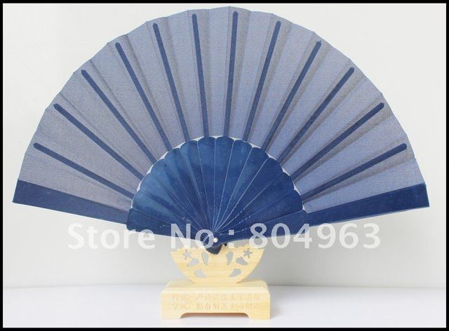 [China Confucian ]Free Shipping/L23CM*14RIBS Hand Fan,plastic folding fan with lacy,plain fabric best promotion gift with LOGO