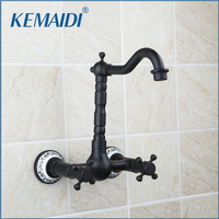 Shivers Bathtub Faucet Torneira Wall Mounted Oil Rubbed Black Bronze 97114 Bathroom Basin Sink Faucet Mixers