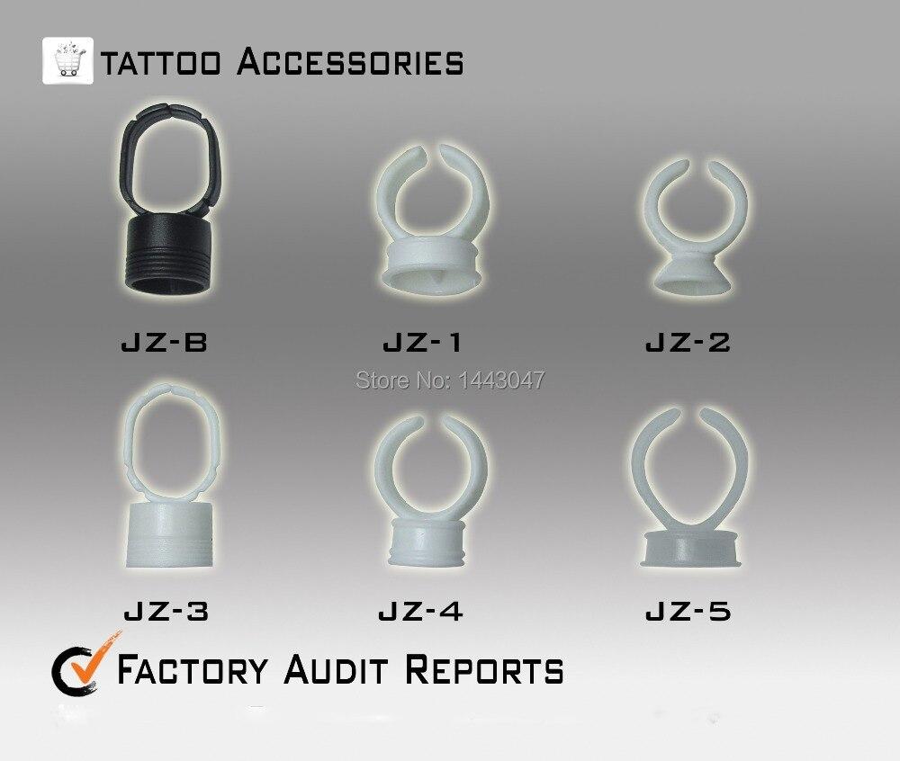 100 шт. белыми чернилами кольцо с два места для перманентный макияж чернила татуировки