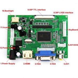 Image 3 - HDMI VGA 2AV LVDS ACC TTL Lcd Display Controller 50pin Driver Board for 7 inch 1024 x 600 LCD Monitor Raspberry pcduino T0845
