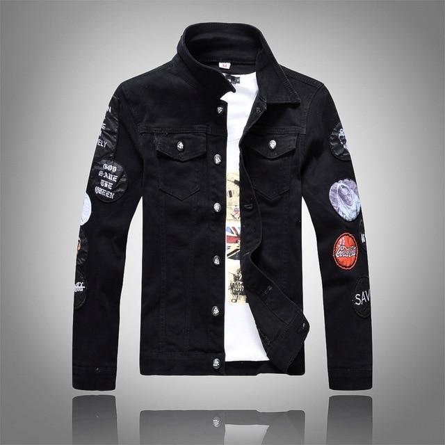 04886ad22294 New Style Men s denim outerwear men s short denim jacket fashion jeans  autumn spring denim jackets thin coat classic black