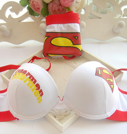 7a7c8309ca Free shipping New design push up bra panty set ladies superman style  underwear-in Bra   Brief Sets from Underwear   Sleepwears on Aliexpress.com