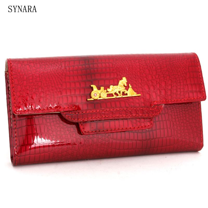 Women Wallets Brand Design High Quality Leather Wallet Female Hasp Fashion Dollar Price Alligator Long Women Wallets And Purses reiwalker women wallets brand design pu leather purse hasp fashion dollar price long wallets for female