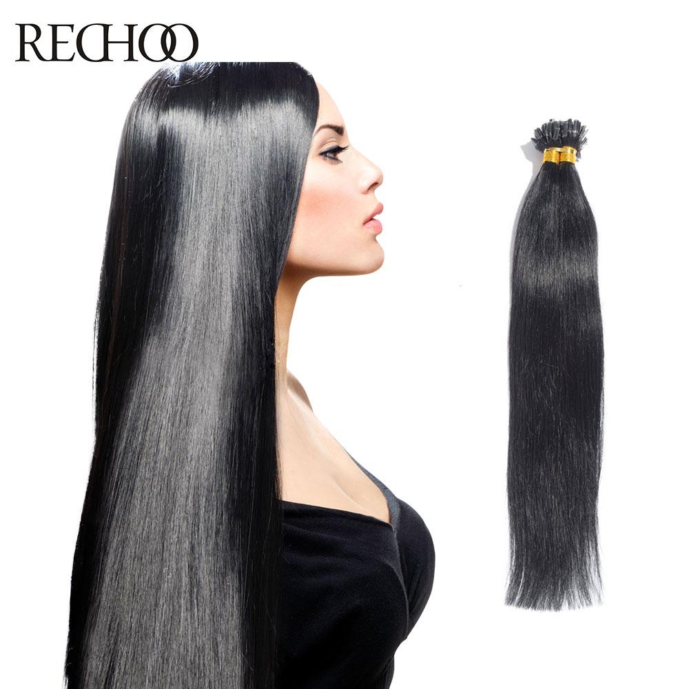Rechoo U Tip Hair Extensions Human 100g Remy 100