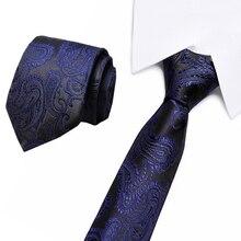 Brand New 8cm Tie Vintage  Jacquard silk paisley Men Business Bowtie Gravatas Fashion Casual Printed Ties for Wedding