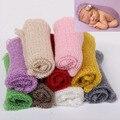 ( 60 * 40 cm ) acrílico envolturas Mohair 10 unids mezcla una porción Color fotografía recién nacido envuelve Baby Shower regalo recién nacido apoyos