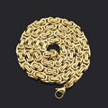 2017 New Fashion Vintage Chunky Chain 18 K Gold Plated punk statement Necklace For Men Necklaces Jewelry High Quality BN143