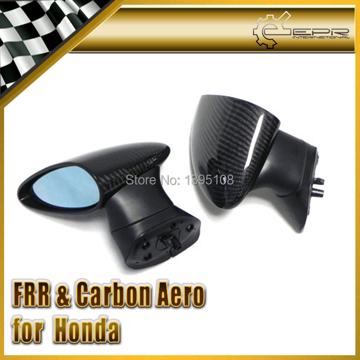 Car styling For Honda Civic 2006 2007 4 Door Spoon Style Carbon Fiber Side Mirror Manual