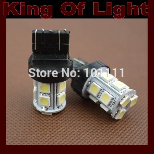 100x High quality led Car styling lighting T20 W21/5W 13smd 7443 13 LEDS SMD 5050 brake parking lignt Free shipping