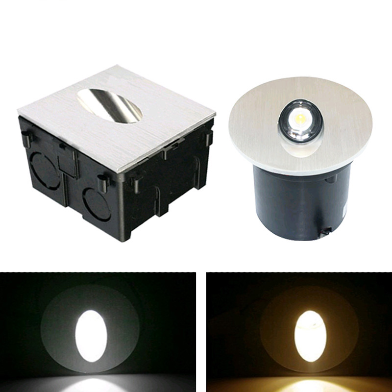 Aluminum Modern Brief LED Stair Light AC85-265V 1W 3W Wall Mounted Background Light Step Aisle Wall Lamp DC12V