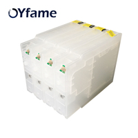 OYfame New Compatible for Epson Refillable Ink Cartridge T7551 T7561 For Epson WF 8010 8090 8510 8590 DWF With Chips