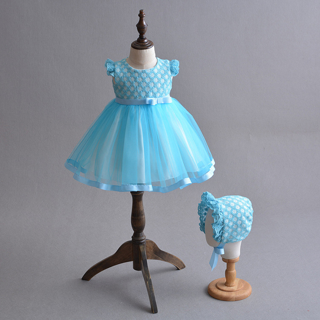 Baby Girl Dress Blue 0 2y Toddler Girl Special Occasion Dresses
