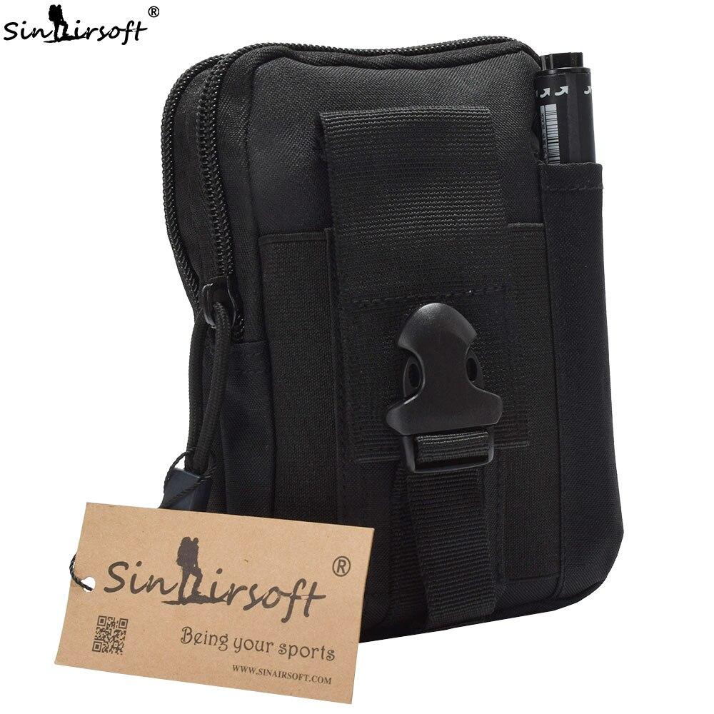 Nouveau SINAIRSOFT Tactique Molle sac Pochette Ceinture Taille Packs Sac de Poche Militaire Taille Fanny Pack Camping pour Iphone7, 7 Plus, Samsung