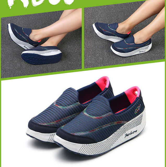 2017 Spring summer new shake blue shoes sponge students flat-bottomed lazy woman a pedal shoe-soles thick 915 # SIZE 36-40