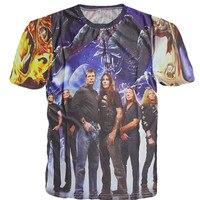 New Unisex Lovers Rock Band T Shirt Iron Maiden Print T Shirt For Men Women Hip