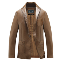 style domesticate one's morality males's leather-based males's leather-based jackets hit eight xl fur coat, a grain of   plus-size, free delivery