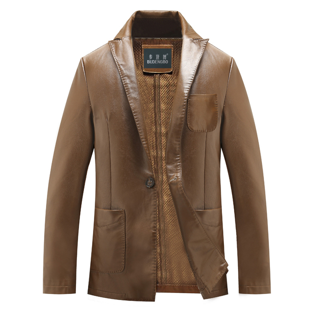 fashion cultivate one's morality men's leather men's leather jackets hit 8 xl fur coat, a grain of   plus-size, free shipping