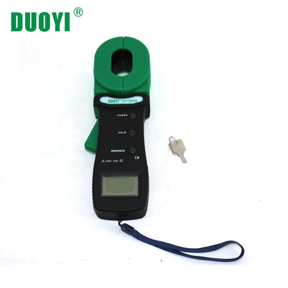 DUOYI DY1000A Industrial Medidor De Testador de Resistência de Terra Braçadeira Ferramenta de Teste de Clamp-on Resistance Terra Resistência do Circuito Eletrônico