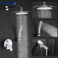 GAPPO Bathroom Shower Faucet Set Bronze Bathtub Shower Faucet Bath Shower Tap Waterfall Shower Head Wall