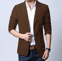 Fashion Mens Korean Slim Fit Cotton Casual Blazer Suit Jacket Plus Size S 5XL Male Formal Business Blazers Mens Coat Wedding