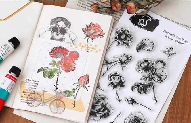 Diy Clear Stamp Photo Album Decor Embossing Scrapbooking & Stamping Paper Crafts Card Making