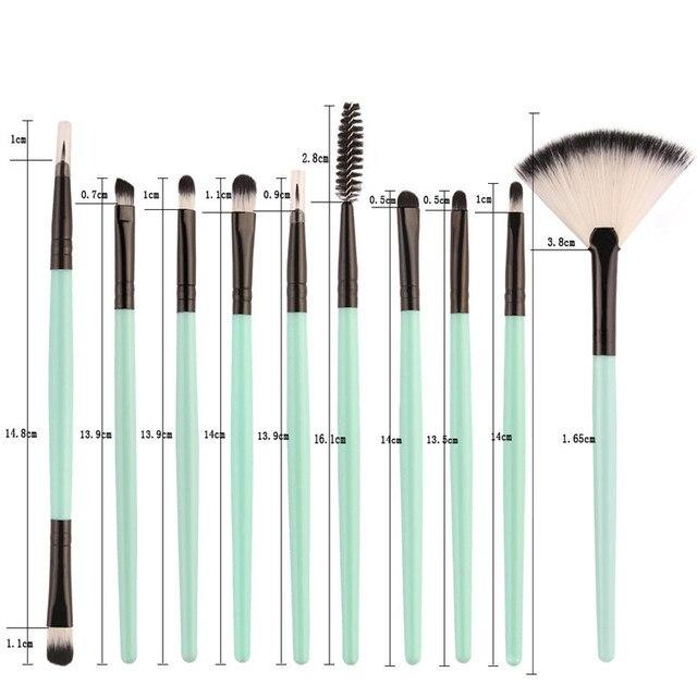 18Pcs Makeup Brushes Set Eyebrow Eyeliner Foundation Brush pincel maquiagem Powder Blush Professional Make Up Brush maquiagem 5