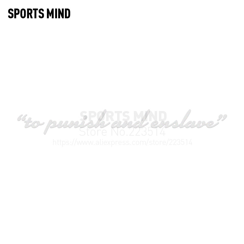 10 Pieces SPORTS MIND to punish and enslave Automobiles Waterproof Reflective vinyl Car Body Sticker Decal For All Car