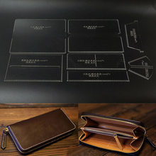 Leather Craft Clear Acrylic Clutch Bag Handbag Pattern Stencil Template Tool Set DIY Kit TB Sale(China)