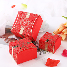 10pcs Free shipping Wedding cake boxes Candy carton box Hollow gift bags Party