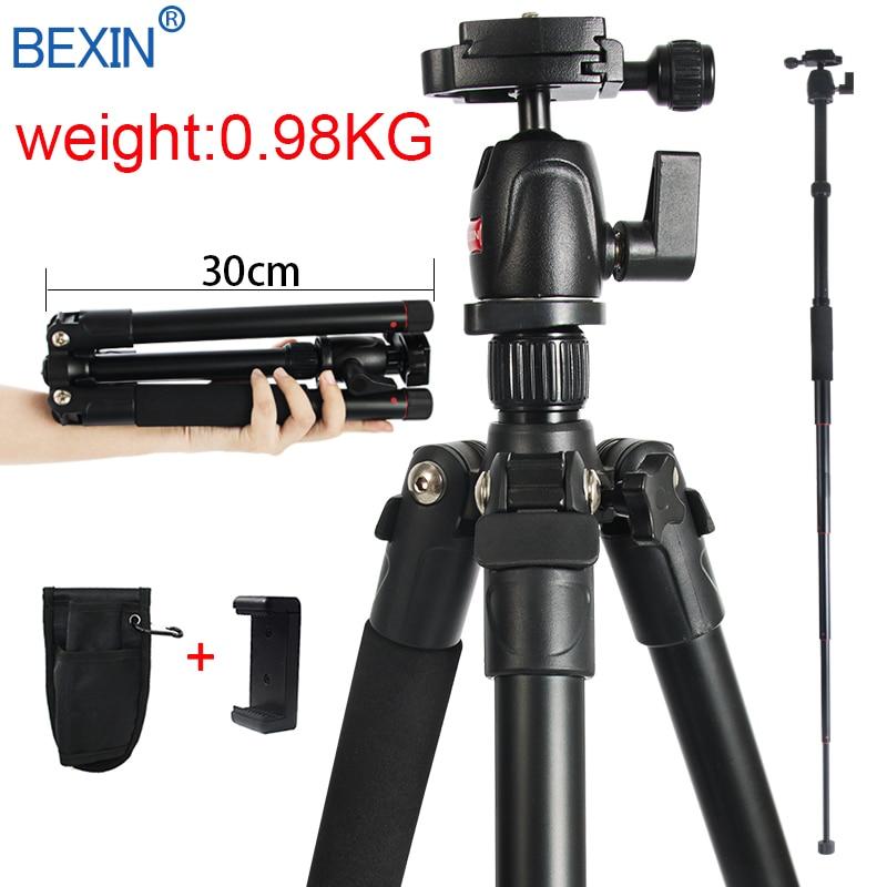 Professional Flexible Mobile Phone Holder Mount Portable Lightweight Camera Ball Head Tripod Stand For Digital SLR DSLR Camera