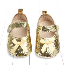 Sequin Style Baby Girls Princess Cotton First Walker Toddler Infant Soft Sole Shoes Soft bottom Bebe Girls Shoes(China)