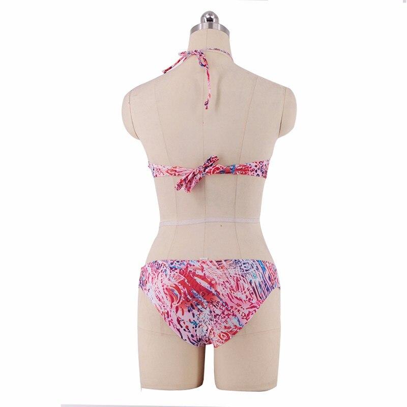 67d71e7125b P j Women Sexy Halter Bandage Swimsuit Retro Floral Print Bikini Set ...