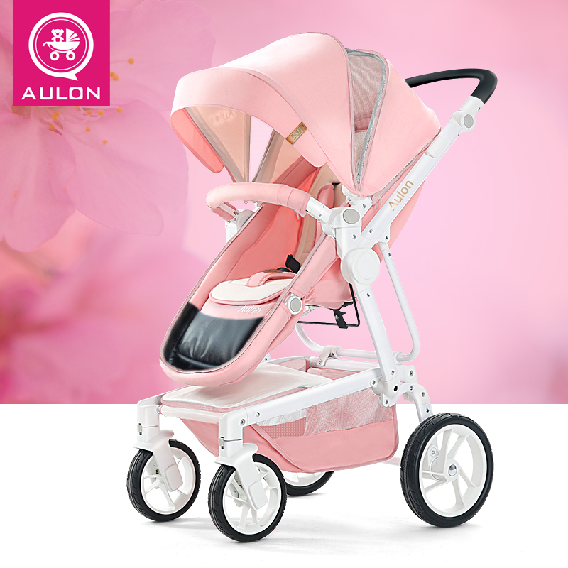 купить Stroller can sit and lie folded high landscape light baby hand push stroller по цене 15469.43 рублей
