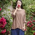 Де Голубь 2016 новых осенью 100% хлопок футболка с длинным рукавом женщины свободный стиль женщины Топы футболка топ класс качества бесплатная доставка