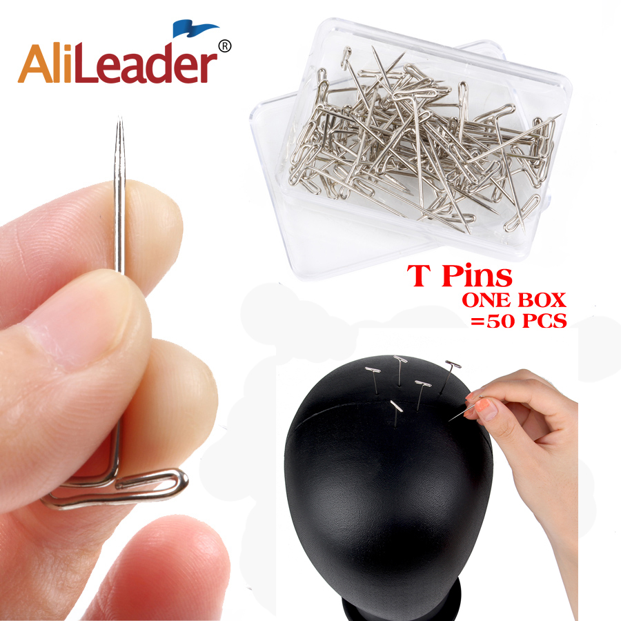 Alileader Wigs Hair-Needles Foam-Head Styling-Tool Sewing Good-Quality Silver Tpins Making/Display