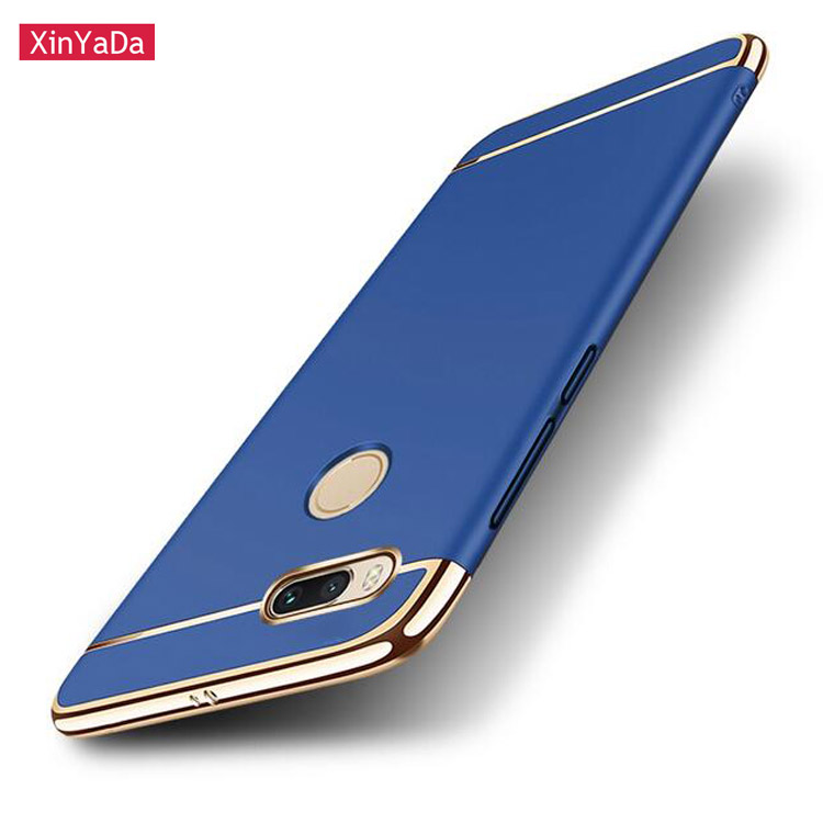 Xinyada Full Protection Luxury Plastic PC Back Case For Xiaomi 5X Mi A1 MiA1 Mi5X Matte Cases Cover 3in1 Plating Shockproof