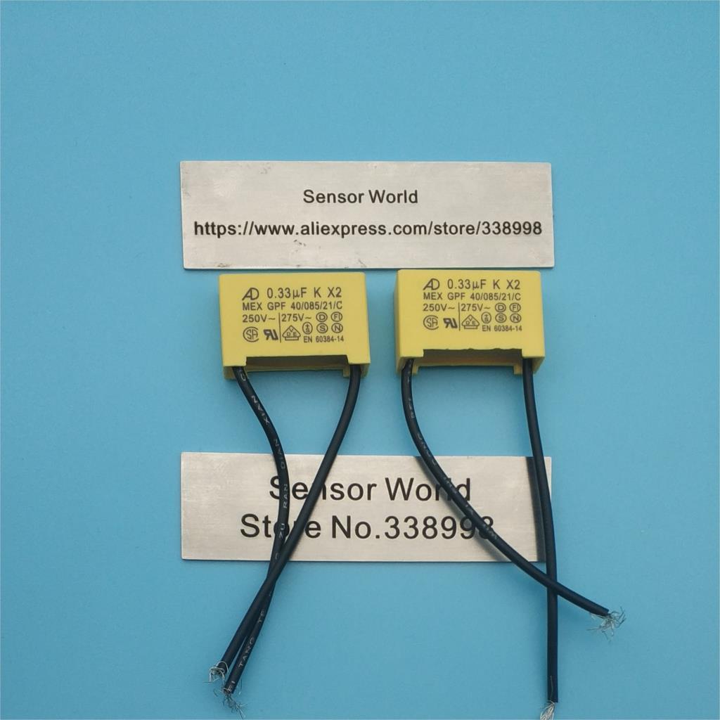 Pengiriman Gratis 50pcs 0.1uF 275V Polypropylene Safety Capacitor 104 104K 275V AC P=10MM