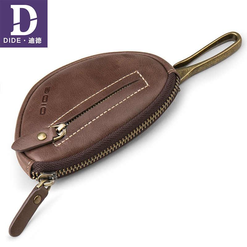 DIDE 2018 Yüksek Kalite Erkekler Anahtarlık Cüzdan Hakiki Deri Araba Anahtarı Durum Vintage İş anahtarlık Erkekler Kahya anahtar çantası