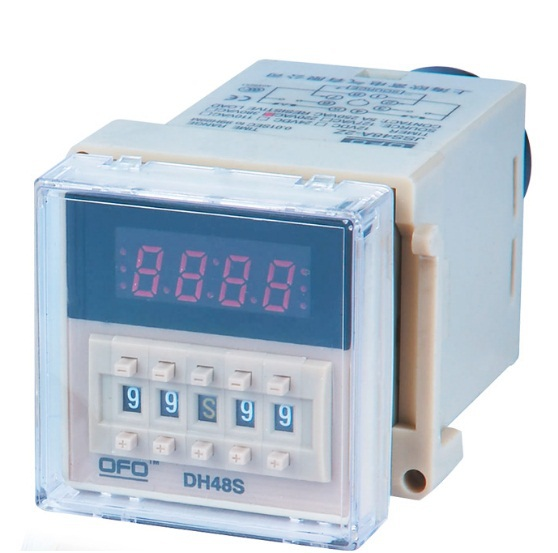 free shipping NEW 220V DH48S-S AC Dual Time Digital Delay Relay Delay Timer AC/DC Time Mode S/M/H JCCDJ2 zys48 s dh48s s ac 220v repeat cycle dpdt time delay relay timer counter with socket base 220vac
