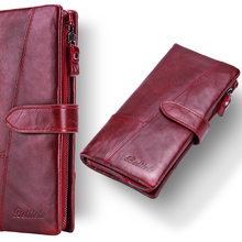 Betiteto First Layer Rfid Genuine Leather Coin Purse Women Wallet