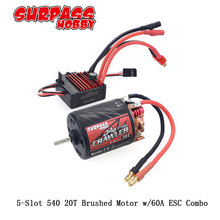 5-Slot 540 20T Brushed motor w/60A for RC Redcat Volcano EPX Blackout XTE Traxxas TRX-4 Blazer Axial SCX10 D110 D90 Crawlwer Car цена