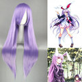 80CM TouHou Project Reisen Udongein Inaba Wig Lavender Straight Anime Cosplay Hair Light Purple Long Straight Wig LXFree wig cap